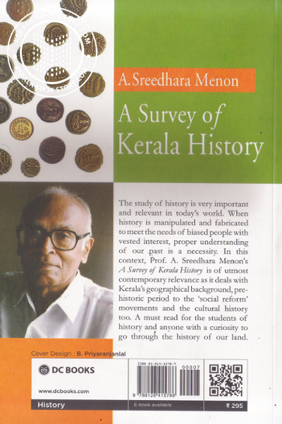 back image of A survey of Kerala history