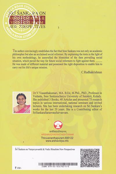 back image of Sri Sankara on Varnavyavastha and Vedic Ritualism New Perspectives
