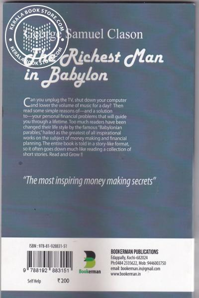 back image of The Richest Man in Babylon