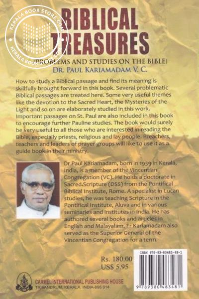 back image of Biblical Treasures