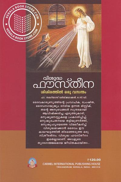 back image of വിശുദ്ധ ഫൗസ്തീന