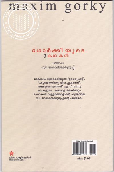 back image of ഗോര്ക്കിയുടെ 3 കഥകള്