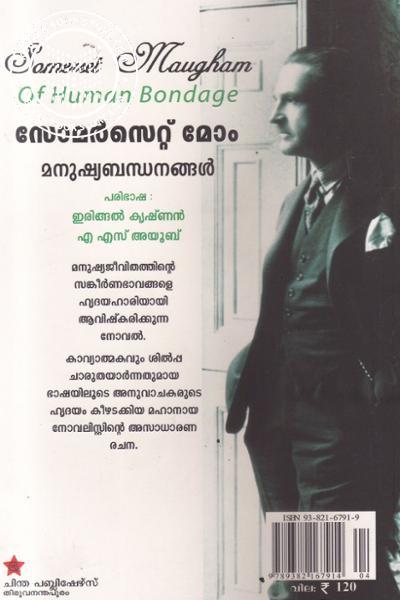 back image of മനുഷ്യബന്ധനങ്ങള്