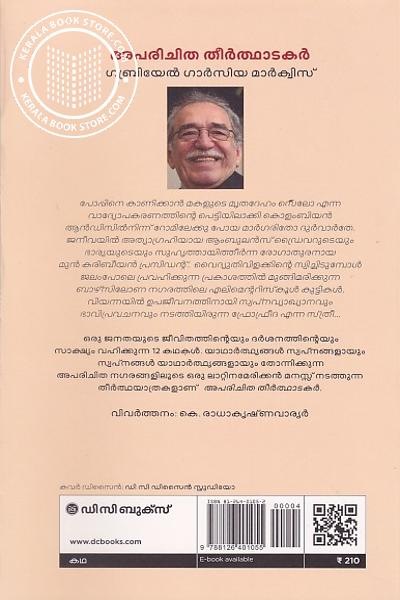 back image of അപരിചിത തീർത്ഥാടകർ