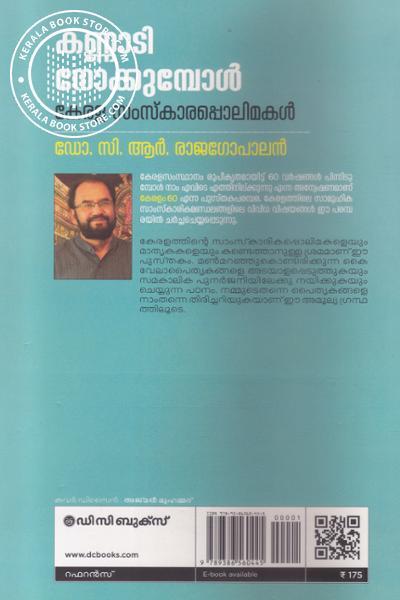 back image of കണ്ണാടി നോക്കുമ്പോള് കേരള സംസ്കാരപ്പൊലിമകള്