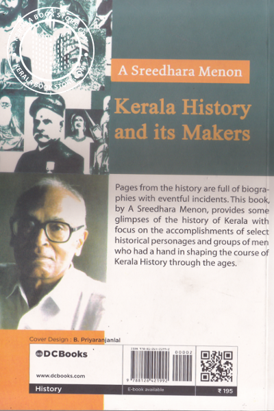 back image of Kerala history and its makers