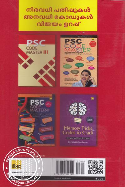 back image of P S C Super Memory Tips