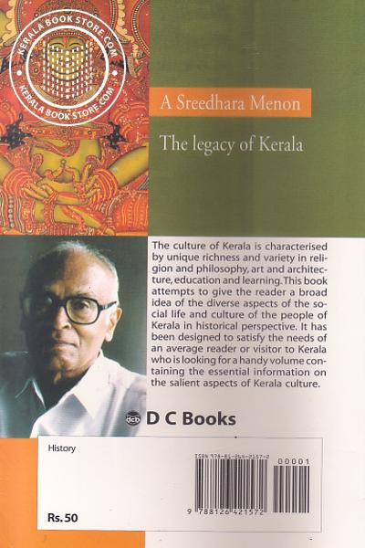 back image of The Legacy of Kerala