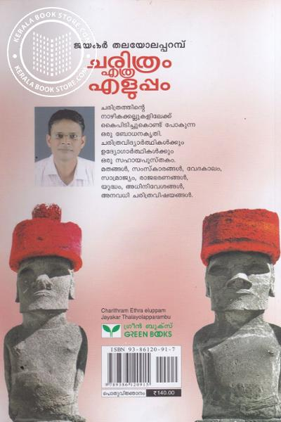 back image of Charithram Etra Eluppam