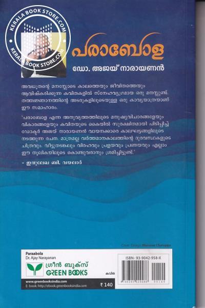 back image of പരാബോള