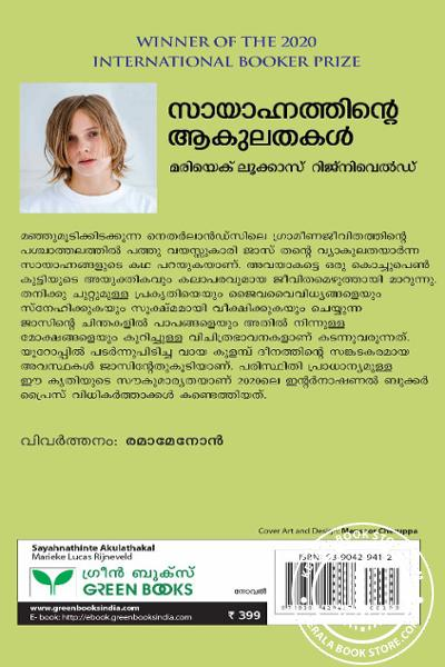 back image of സായാഹ്നത്തിന്റെ ആകുലതകള്