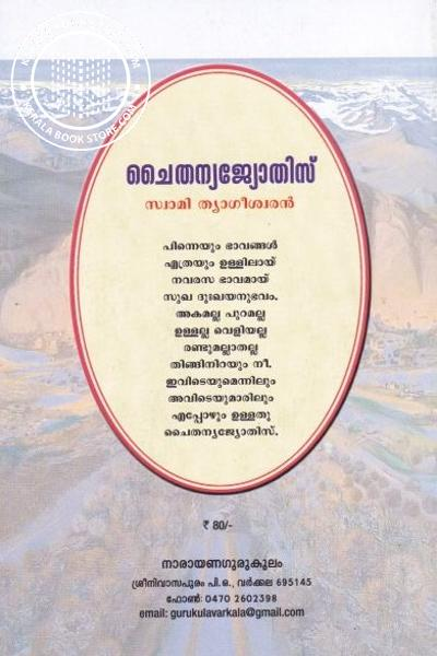 back image of ചൈതന്യജ്യോതിസ്
