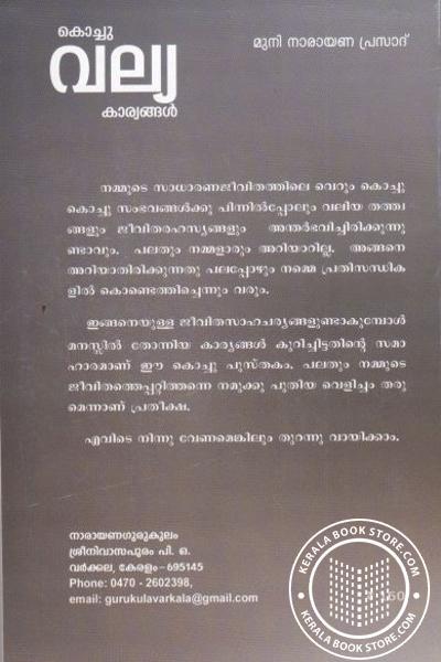back image of കൊച്ചു വല്യ കാര്യങ്ങള്