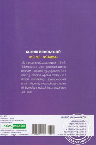 back image of രകതരേഖകള്