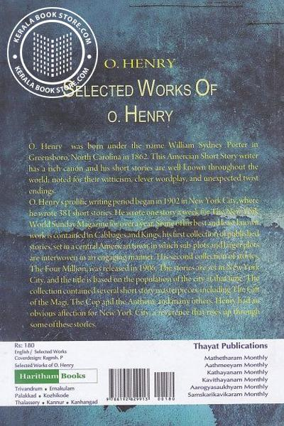 back image of Selected Works of O Henry O Henry