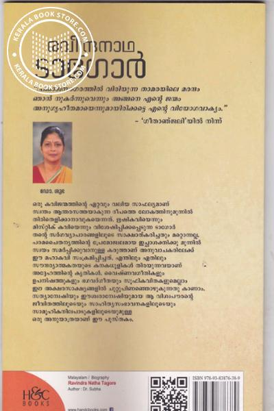 back image of Ravindra Natha Tagore