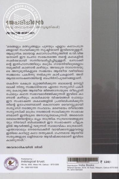 back image of അപരിചിതന് - ഒരു അവധൂതന്റെ അനുഭൂതികള്