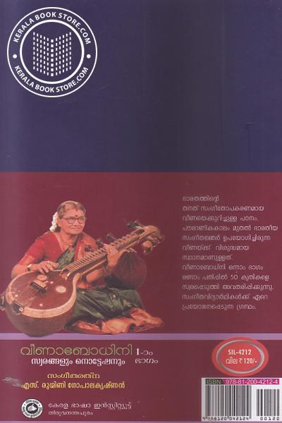back image of Veenabodhini - Part -1