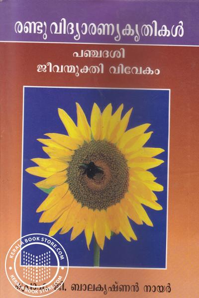 Cover Image of Book രണ്ടു വിദ്യാരണ്യകൃതികള് പഞ്ചദശി ജീവന്മുക്തി വിവേകം -Old Edition-
