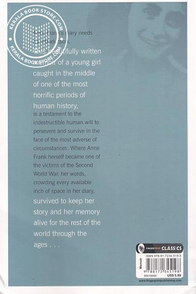 back image of The Diary of A Young Girl