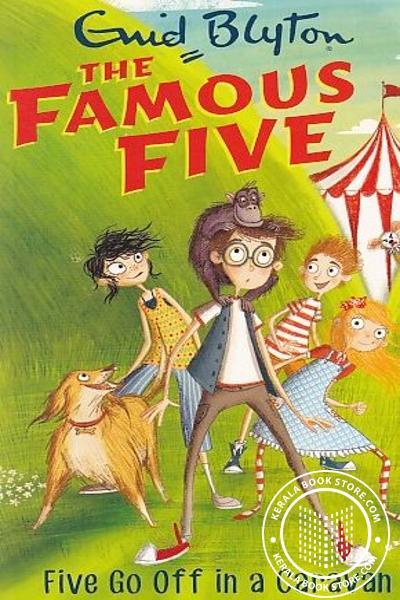 Cover Image of Book The Famous Five -5 Five go Off in a caravan