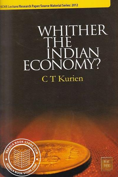 Cover Image of Book Whither The Indian Economy
