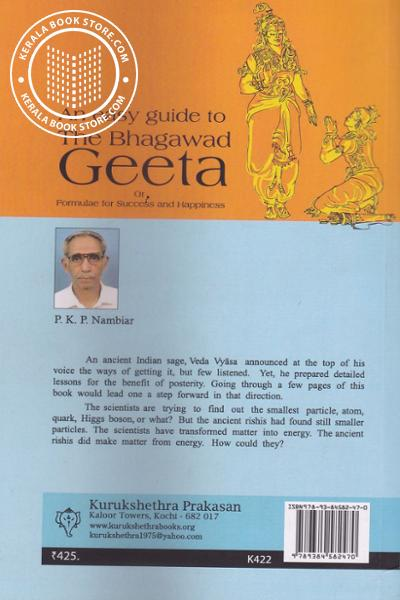 back image of An easy guide to The Bhagawad Geetha or formulae for Success and Happiness