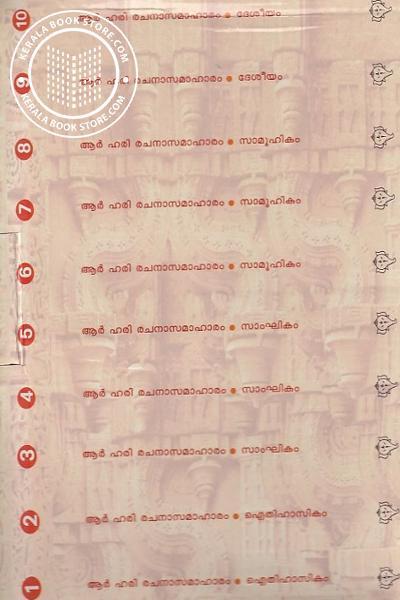 back image of രചനാ സമാഹാരം - ആര് ഹരി