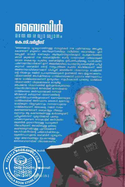 back image of ബൈബിള് മതേതരവ്യാഖ്യാനം