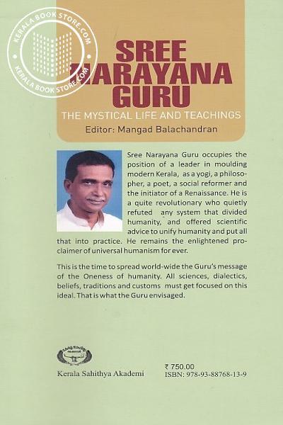 back image of Sree Narayana Guru The Nystical Life And Teachings