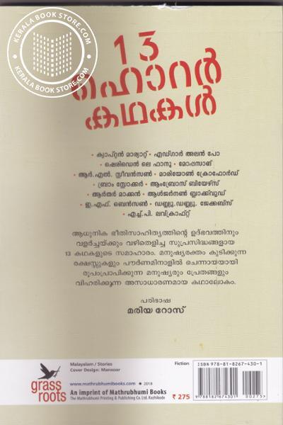 back image of 13 Horror Kathakal
