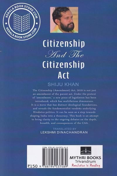 back image of Citizenship and The Citizenship Act