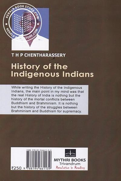 back image of History of the Indigenous Indians