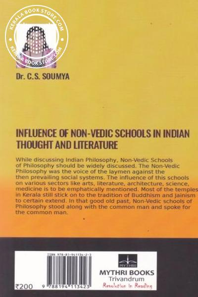 back image of Influence of Non-Vedic Schools in Indian Thought and Literature