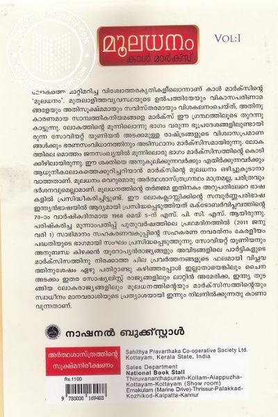 back image of മൂലധനം Vol-1,2,3