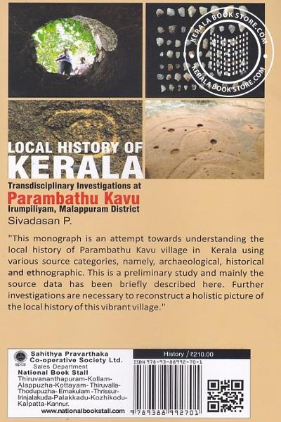 back image of Local History of Kerala Transdisciplinary Investigations at Parambathu Kavu Irumpilliyam Malappuram District