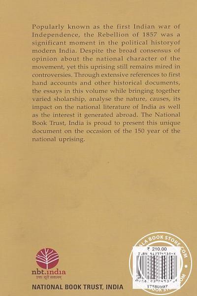 back image of Rebellion 1857