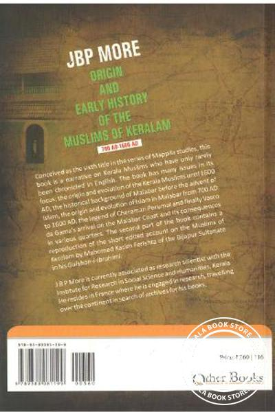 back image of Origin And Early History Of The Muslims Of Keralam