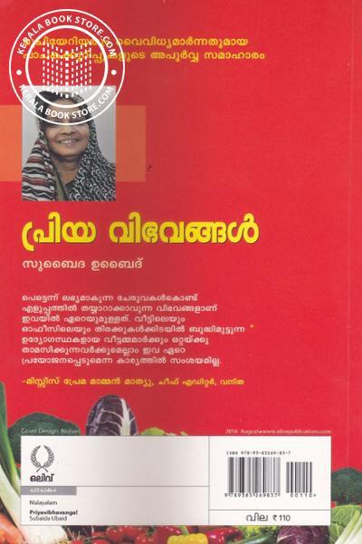 back image of പ്രിയ വിഭവങ്ങള്
