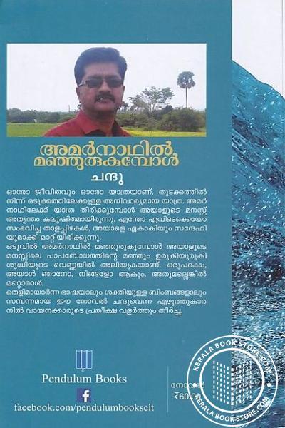 back image of അമര്നാഥില് മഞ്ഞുരുകുമ്പോള്