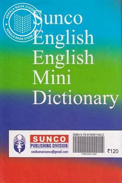 back image of English English Mini Dictionary