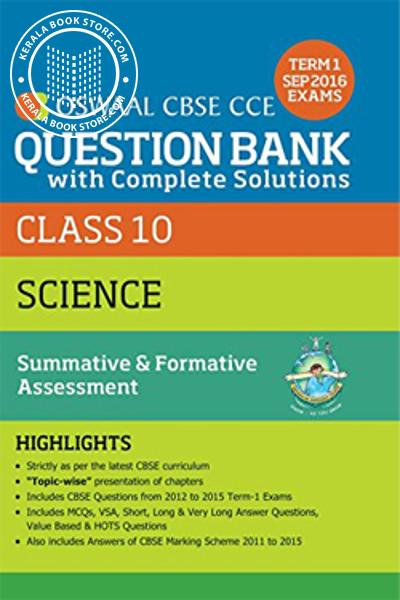 Cover Image of Book OSWAAL CBSE QUESTION BANK CLASS X - SCIENCE