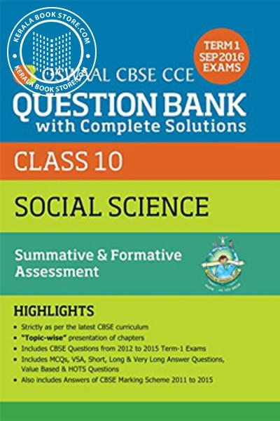 Cover Image of Book OSWAAL CBSE QUESTION BANK CLASS X - SOCIAL SCIENCE