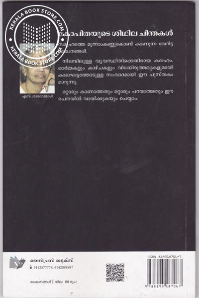 back image of കോപിതയുടെ ശിഥില ചിന്തകള്