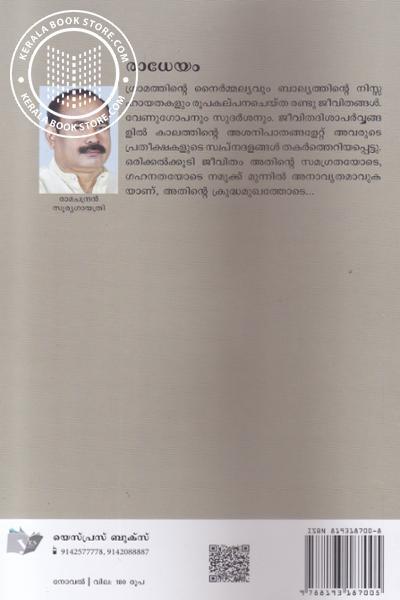 back image of രാധേയം
